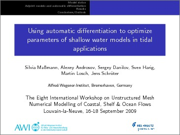 Using automatic differentiation to optimize parameters of shallow
