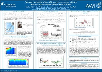 Transport variability of the ACC and teleconnection with ...