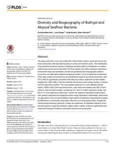 Diversity and Biogeography of Bathyal and Abyssal Seafloor Bacteria