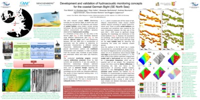 Development and validation of hydroacoustic monitoring