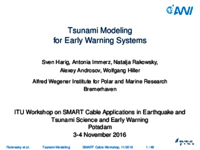 research papers on tsunamis