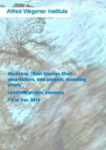Workshop 'East Siberian Shelf: observations, data analysis