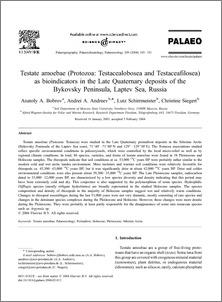As In protozoa The Late Testacea Amoebae Testate Bioindicators